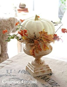 Pumpkin in urn